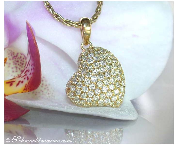 Pretty Diamond Heart Pendant