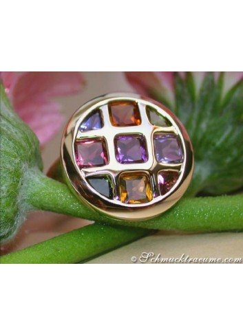 Multicolor Edelstein Ring in Gelbgold 585
