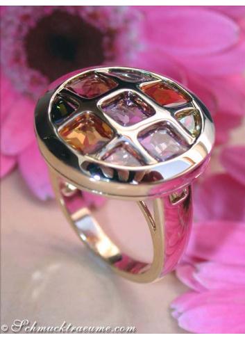 Gorgeous Multicolor Gemstone Ring