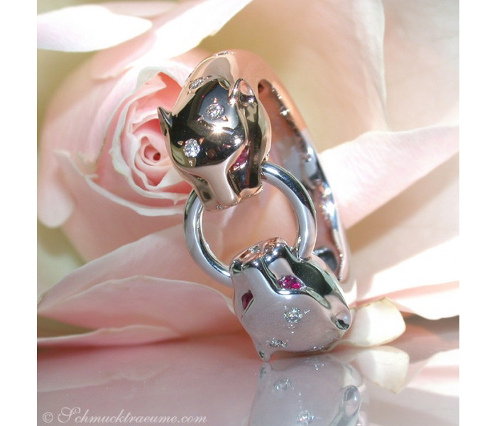 Brillanten Panther Ring