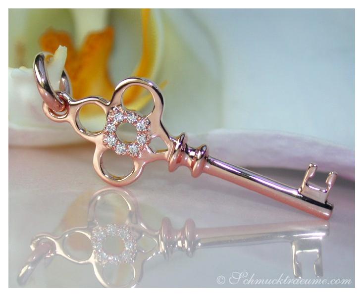 Enchanting Diamond Key Pendant