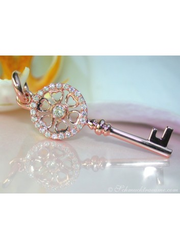 Beautiful Diamond Key Pendant