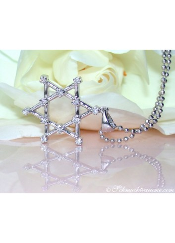 "Terrific ""Star of David"" Diamond Pendant"