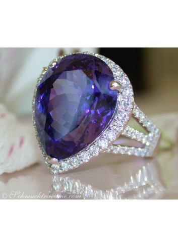 Exquisite AAA Tanzanite Ring with Diamonds