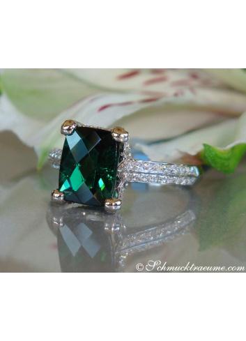 Turmalin Brillanten Ring