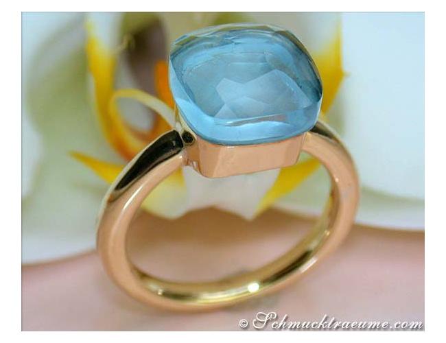 Pomellato Ring Blau Topas