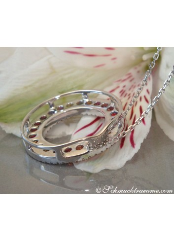 Pretty Rainbow Sapphire Pendant with Diamonds