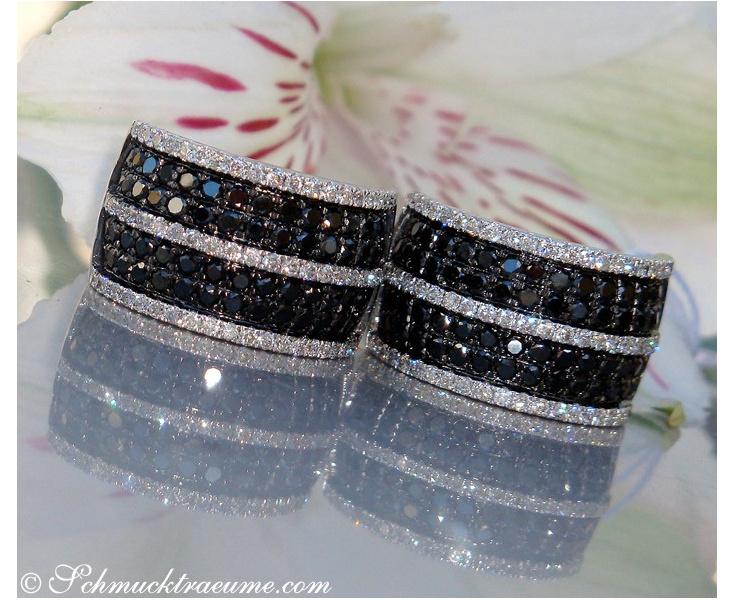 Schwarze Diamanten Ohrringe