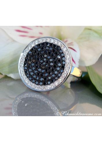 schwarze Diamanten Ring