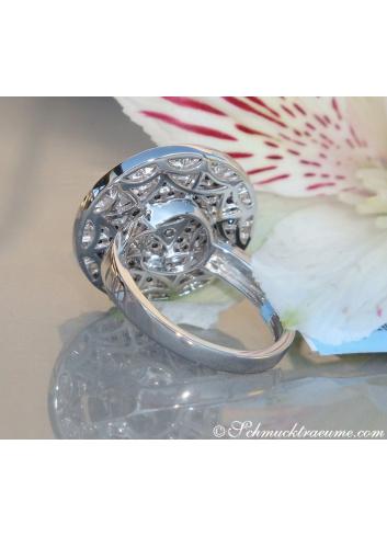 Elegant diamonds & black diamond ring