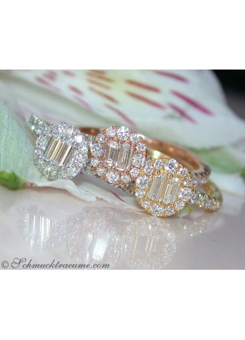 Three enchanting diamond stacking ring