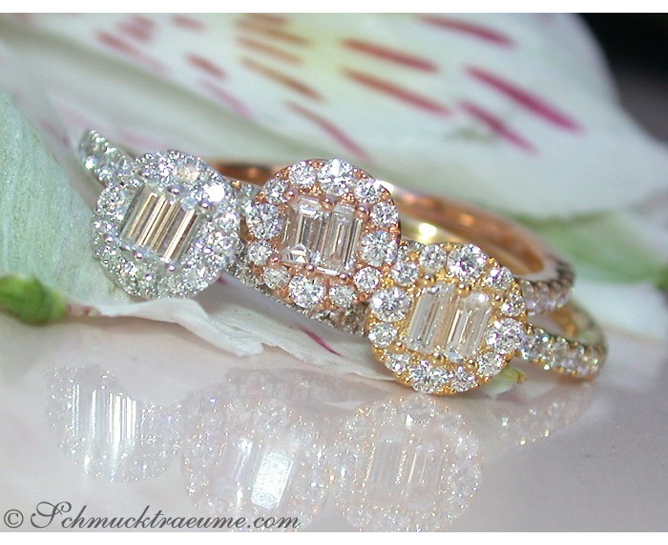 Drei Brillanten & Diamanten Ringe