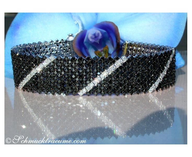 Schwarz / Weiß Diamanten Armband