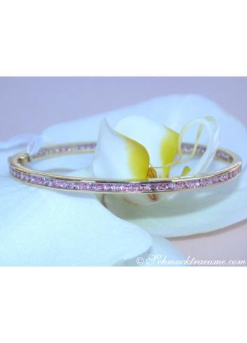 Precious Pink Sapphire Bangle