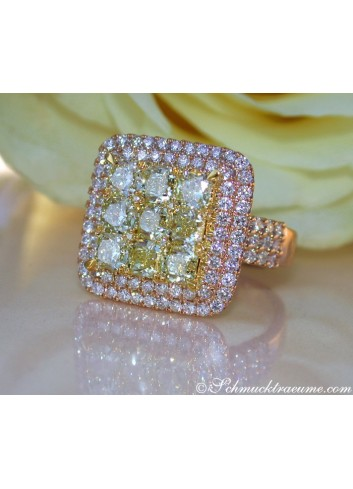 Exquisite Yellow Diamond Ring