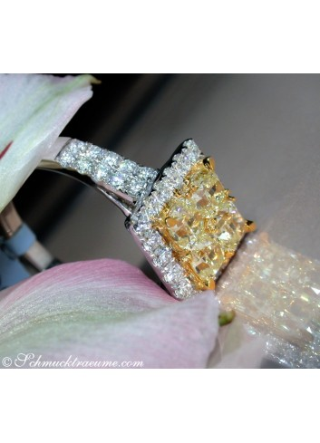 Gelbe Diamanten Ring mit Brillanten