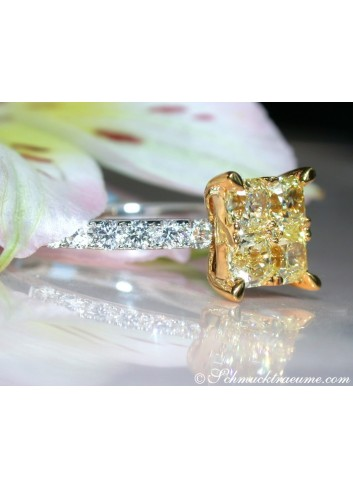 Delicate Yellow Diamond Ring