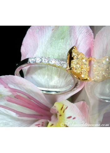 Delicate Yellow Diamond Ring