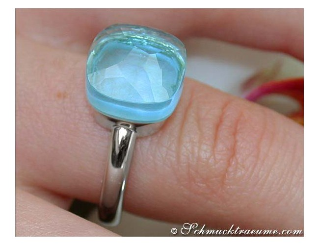 Finest Blue Topaz Ring