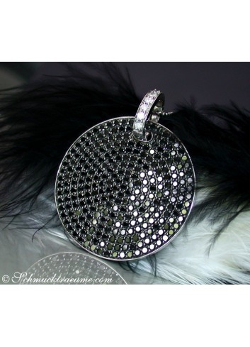 Modifiable Black & White Diamond Pendant
