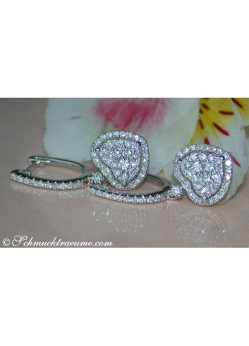 Elegant Diamond Heart Earrings