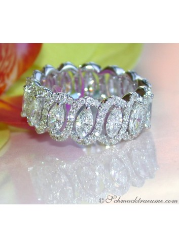 Brillanten Memory Ring mit Marquise Diamanten