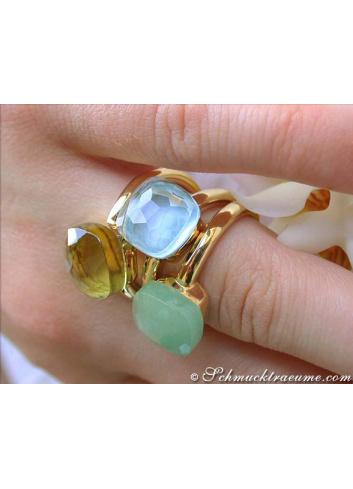 pomellato ringe nudo blau