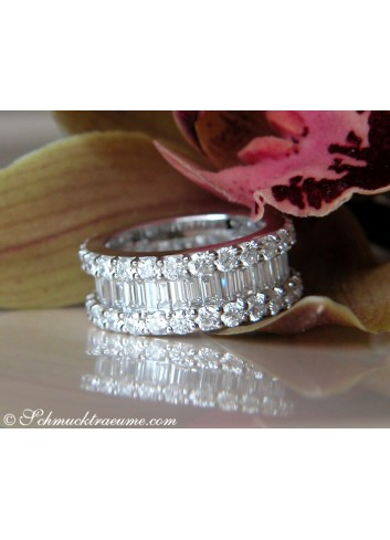Brillanten Memory Ring mit Baguette Diamanten