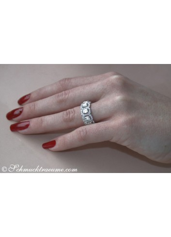 Diamanten Memory Ring mit Brillanten