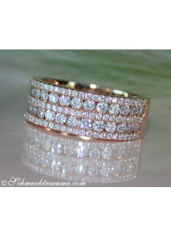 Brillanten Ring in Rosegold 750