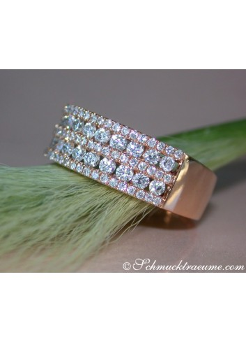 Brillanten Ring in Rosegold 750