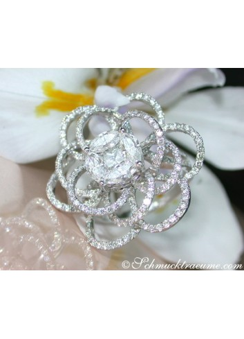 High-end Blossom Style Diamond Ring