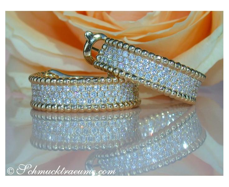 Exquisite Diamond Hoops