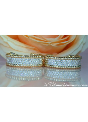 Exquisite Diamond Hoops