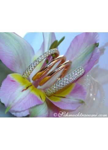 Exquisite Multi Row Diamond Ring