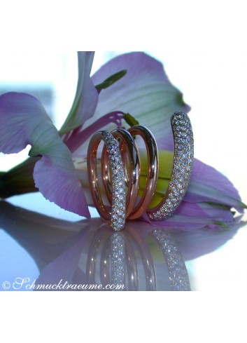 Exquisite Multi Row Diamond Ring