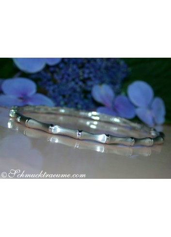 Diamanten Armreif im Bambus Design
