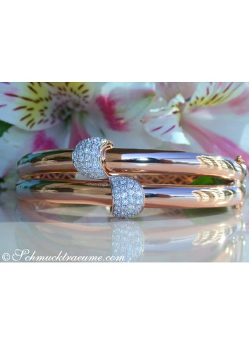 Solid Diamond Bangle in Rose gold 14k
