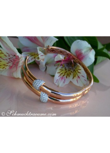 Solid Diamond Bangle