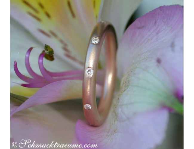 "Enchanting Diamond ""Starry Sky"" Band in Rose Gold"