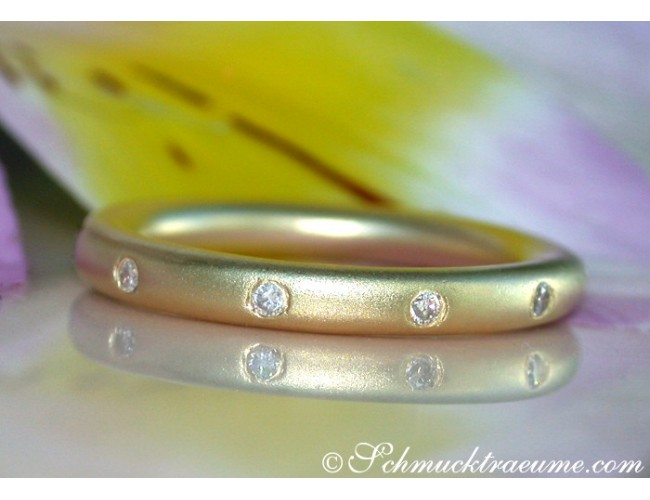 "Enchanting Diamond ""Starry Sky"" Band in Yellow Gold"