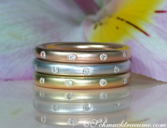 Brillanten Ringe im Sternenhimmel Design
