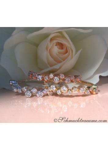 Drei Diamanten Memory Ringe