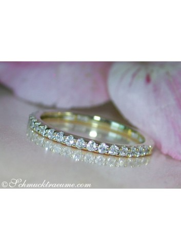 Cute Diamond Eternity Ring in Yellow gold 14k
