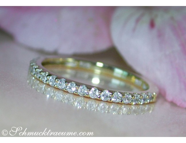Diamanten Memory Ring in Gelbgold