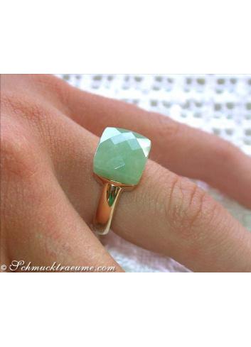 Feinster Natur Jade Ring
