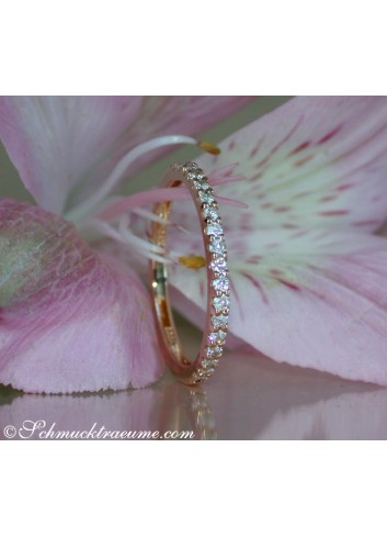 Diamanten Memory Ring in Roségold