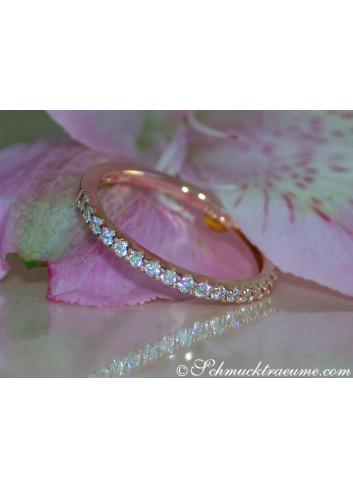 Cute Diamond Eternity Ring in Rose gold 14k