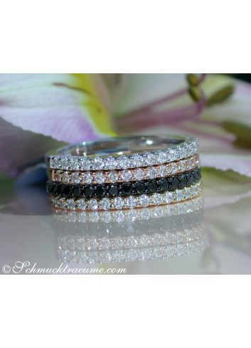 Cute Diamond Eternity Ring in Rose gold 14k
