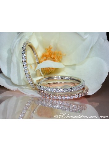 Three Cute Diamond Eternity Rings